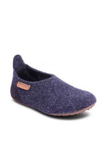 Bisgaard---Pantoffeln-für-Babys---Basic-wool---Blau