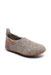 Bisgaard---Pantoffeln-für-Babys---Basic-wool---Grau