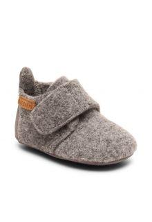 Bisgaard---Pantoffeln-für-Babys---Baby-wool---Grau