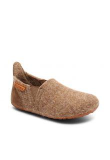 Bisgaard---Pantoffeln-für-Babys---Sailor-wool---Braun