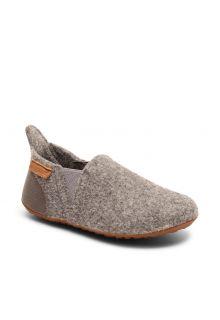 Bisgaard---Pantoffeln-für-Babys---Sailor-wool---Grau