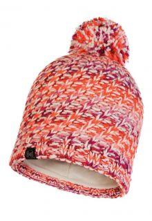 Buff---Pompom-Strickmütze-Polar-Valya-für-Erwachsene---Orange/Multi