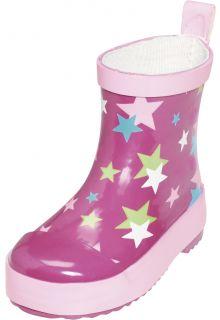 Playshoes---Kurze-Gummistiefel---Rosa-Sterne