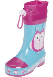 Playshoes---Gummistiefel-Eulen---Turquoise