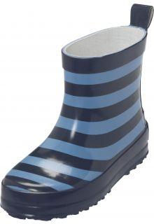 Playshoes---Kurze-Gummistiefel---Blau-gestreift