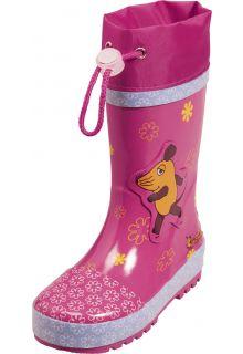 Playshoes---Gummistiefel-Maus-&-Blümchen---Pink