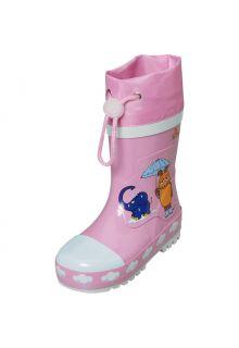 Playshoes---Gummistiefel-für-Kinder---Maus-&-Elefant---Rosa