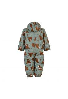 CeLaVi---Regenanzug-mit-Fleece-für-Kinder---Bär---Schiefergrau
