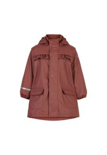 CeLaVi---Regenmantel-mit-Fleece-für-Kinder---Mahogany