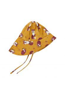 CeLaVi---Regenhut-mit-Fleece-für-Kinder---Fuchs---Mineralgelb