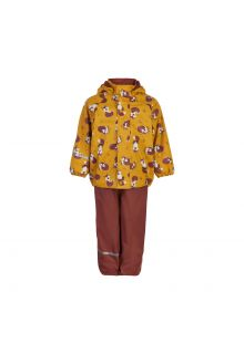 CeLaVi---Regenset-mit-Fleece-für-Kinder---Fuchs---Mineralgelb