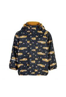 CeLaVi---Regenjacke-mit-Fleece-für-Kinder---Rennwagen---Navy
