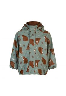 CeLaVi---Regenjacke-mit-Fleece-für-Kinder---Bear---Schiefergrau