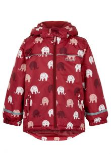 CeLaVi---Winterjacke-für-Mädchen---Elefant---Dunkelrot