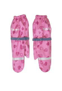 Playshoes---Regenhandschuhe-mit-Fleece-Futter-für-Mädchen---Herzen---Rosa