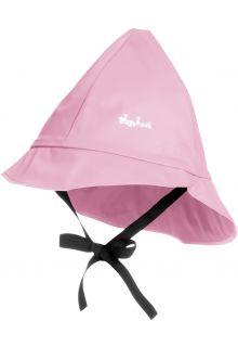 Playshoes---Regenmütze-mit-Bindebändern---Hellrosa