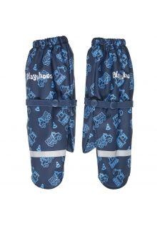 Playshoes---Regenhandschuhe-mit-Fleece-Futter-für-Jungen---Baustelle---Marine