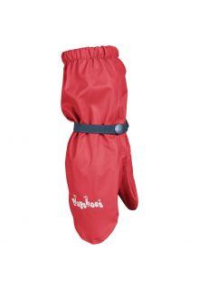 Playshoes---Regenhandschuhe-mit-Fleece-Futter-für-Kinder---Rot