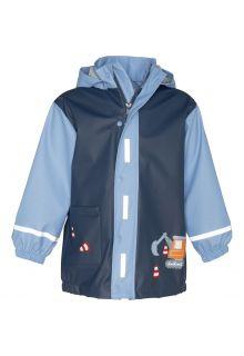 Playshoes---Regenmantel-für-Jungen---Baustelle---Blau
