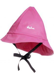 Playshoes---Regenmütze-mit-Bindebändern---Rosa