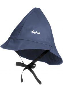 Playshoes---Regenmütze-mit-Bindebändern---Dunkelblau
