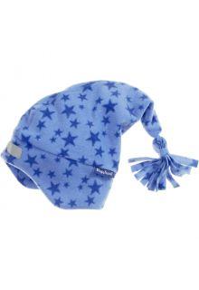 Playshoes---Fleece-Zipfelmütze-für-Kinder---Sterne---Blau