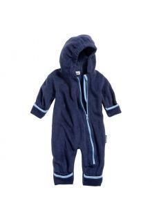 Playshoes---Fleece-Overall-in-Kontrastfarben-für-Babys---Marine