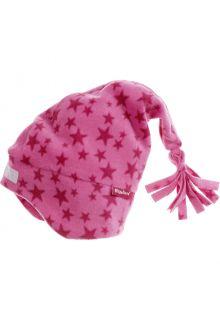 Playshoes---Fleece-Zipfelmütze-für-Kinder---Sterne---Rosa