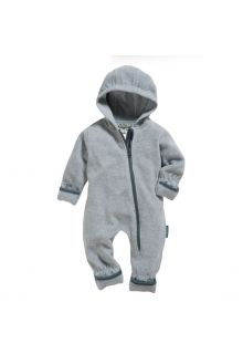 Playshoes---Fleece-Overall-für-Babys---meliert---Grau/Melange