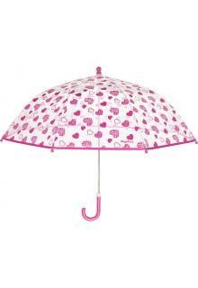 Playshoes---Transparenter-Regenschirm-für-Mädchen---Hearts