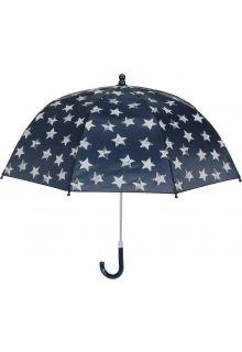 Playshoes---Regenschirm-für-Kinder---Sterne---Dunkelblau