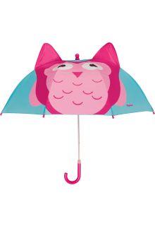 Playshoes---Kinder-Regenschirm-mit-Eule---Türkis