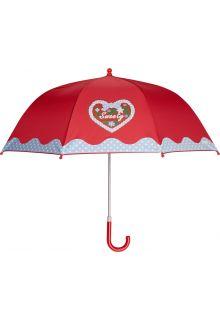 Playshoes---Kinder-Regenschirm-mit-Herz-&-gepunktet---Rot