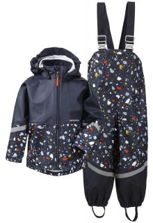 Didriksons---Regenanzug-für-Kinder---Waterman-Printed---Dunkelblau