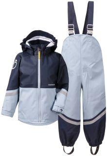 Didriksons---Regenanzug-für-Kinder---Waterman---Hellblau/Dunkelblau