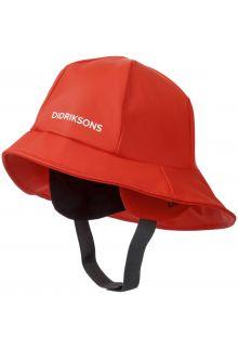 Didriksons---Regenhut-für-Kinder---Südwester---Mohnrot