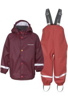 Didriksons---Regenanzug-Set-5-für-Babys---Slaskeman---2-Color---Rot