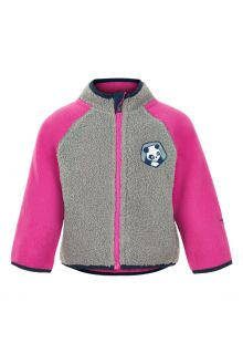 Color-Kids---Fleecejacke-für-Babys---Colorblock---Grau/Pink
