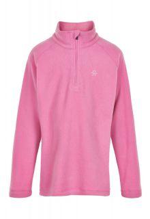 Color-Kids---Fleecepullover-für-Mädchen---Uni---Fuchsia-Pink