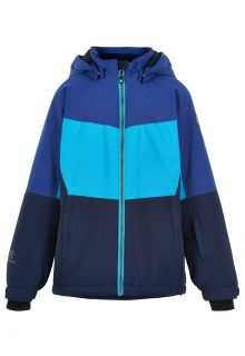 Color-Kids---Skijacke-für-Mädchen---Colorblock---Cyanblau