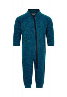 Color-Kids---Fleece-Overall-für-Babys---Melange---Dunkelblau