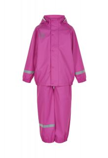 Color-Kids---Regenanzug-aus-recyceltem-Material-für-Mädchen---Uni---Rosa-Violett