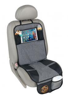 Altabebe---Autositz-Schutzmatte-mit-iPad/Tablet-Tasche---Grau