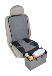 Altabebe---Autositz-Schutzauflage-mit-Fußstütze-für-Kleinkinder---Grau