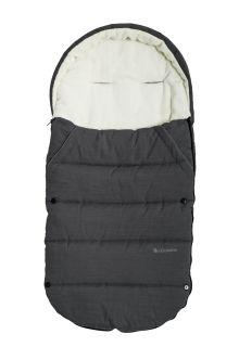 Altabebe---Fußsack-für-Kinder---Alpin---Dunkelgrau/Weiß