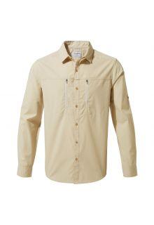 Craghoppers---UV-Hemd-für-Herren---Langarmshirt---Kiwi-Boulder---Beige