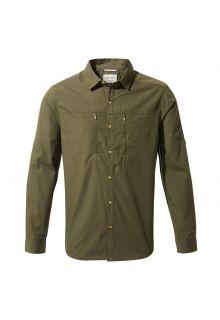 Craghoppers---UV-Hemd-für-Herren---Langarmshirt---Kiwi-Boulder---Dunkelgrün