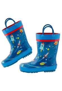 Stephen-Joseph---Regenstiefel-für-Jungen---Weltraum---Dunkelblau/Blau