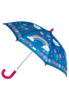 Stephen-Joseph---Farbwechselnder-Regenschirm-für-Mädchen---Regenbogen---Dunkelblau