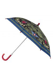 Stephen-Joseph---Regenschirm-für-Jungen---Pilot---Camouflage-grün